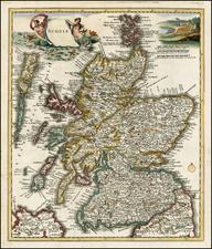 Scotland Map By Giambattista Albrizzi