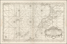 Atlantic Ocean, Africa, North Africa and West Africa Map By Depot de la Marine