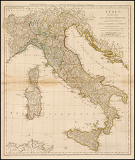 Europe, Italy, Mediterranean and Balearic Islands Map By Robert Sayer