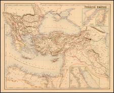 Europe, Balkans, Turkey, Mediterranean, Asia, Holy Land, Turkey & Asia Minor, Balearic Islands and Greece Map By Archibald Fullarton & Co.