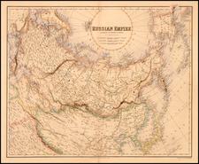 World, Polar Maps, Alaska, Europe, Russia, Asia, China and Russia in Asia Map By Archibald Fullarton & Co.