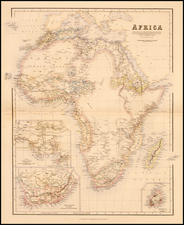 Africa and Africa Map By Archibald Fullarton & Co.
