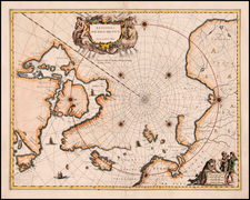 Polar Maps and Canada Map By Willem Janszoon Blaeu