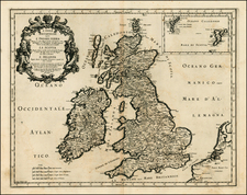 British Isles Map By Giacomo Giovanni Rossi - Giacomo Cantelli da Vignola