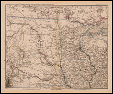 Midwest and Plains Map By Adolf Stieler  &  Augustus Herman Petermann