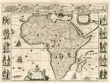 Africa and Africa Map By Jodocus Hondius / Jean Picart