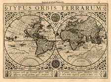 World and World Map By Henricus Hondius / Jan Jansson