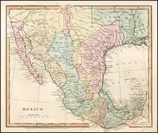 South, Texas, Plains, Southwest, Rocky Mountains, Mexico, Baja California and California Map By Hamilton, Adams & Co.