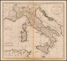 Europe, Italy and Balearic Islands Map By Charles Dilly