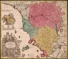 Italy Map By Matthaus Seutter