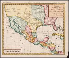 Southwest, Mexico and California Map By Louis Brion de la Tour