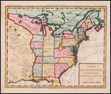 United States, Southeast, Midwest and Plains Map By Louis Brion de la Tour