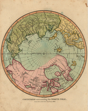 World, Northern Hemisphere, Polar Maps, Alaska, Canada, Europe, Russia, Scandinavia, Asia and Russia in Asia Map By Charles Wilkes