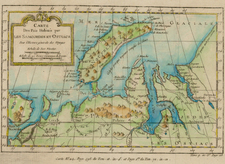World, Polar Maps, Europe and Russia Map By Jacques Nicolas Bellin