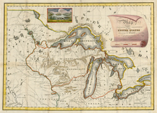 Canada Map By Henry Schoolcraft