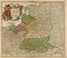 Europe, Germany, Poland, Russia and Baltic Countries Map By Johann Baptist Homann