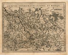 Germany and Czech Republic & Slovakia Map By Matthaus Merian
