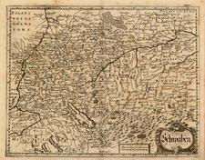 Germany Map By Matthaus Merian