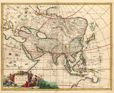 Asia, Asia, Australia & Oceania and Australia Map By Johannes De Ram