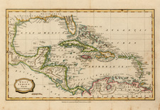 South, Southeast, Caribbean and Central America Map By Charles Brightly  &  E. Kinnersly