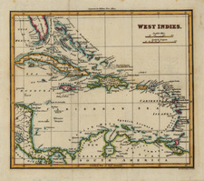 Caribbean Map By John Thomson