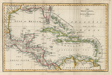Southeast, Caribbean and Central America Map By James Mac Gowan  &  William Davis