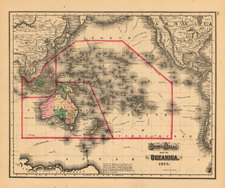 World, Australia & Oceania, Pacific and Oceania Map By O.W. Gray
