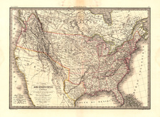 United States, Texas and Southwest Map By Alexandre Emile Lapie