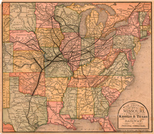 United States, Texas and Plains Map By Rand McNally & Company