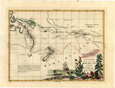 World, Australia & Oceania, Pacific, Australia, Oceania and New Zealand Map By Antonio Zatta