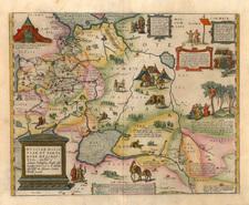 Europe, Russia, Ukraine, Asia, India, Central Asia & Caucasus and Russia in Asia Map By Abraham Ortelius
