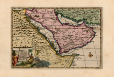Asia, Middle East, Africa and North Africa Map By Pieter van der Aa