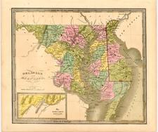 Mid-Atlantic Map By Jeremiah Greenleaf