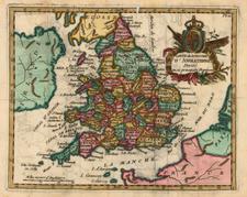 Europe and British Isles Map By Joseph De La Porte
