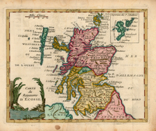 Scotland Map By Joseph De La Porte