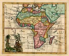 Africa and Africa Map By Joseph De La Porte