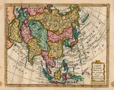 Asia and Asia Map By Joseph De La Porte