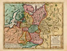 Europe, Poland and Russia Map By Joseph De La Porte