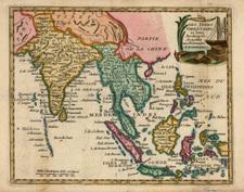 Asia, India, Southeast Asia and Philippines Map By Joseph De La Porte