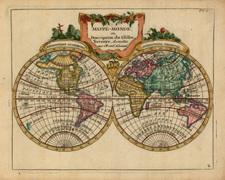 World and World Map By Joseph De La Porte