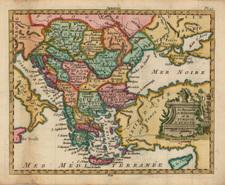 Hungary, Balkans, Turkey and Greece Map By Joseph De La Porte