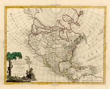 Alaska and North America Map By Antonio Zatta