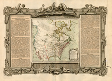United States, Texas, Southwest, North America, California and Canada Map By Louis Charles Desnos