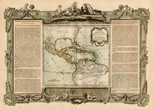 Southeast, Caribbean, Central America and South America Map By Louis Charles Desnos