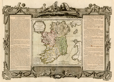 Ireland Map By Louis Charles Desnos