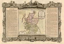 Scotland Map By Louis Charles Desnos