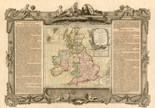 Europe and British Isles Map By Louis Charles Desnos
