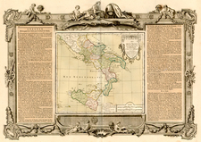 Europe, Italy and Balearic Islands Map By Louis Charles Desnos