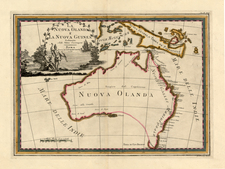 Australia & Oceania, Australia and Oceania Map By Giovanni Maria Cassini