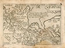 Alaska, Asia, China, Japan, Southeast Asia and California Map By Abraham Ortelius / Pietro Marchetti